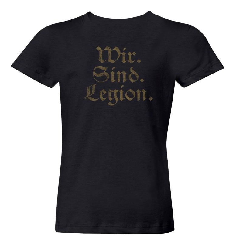 Helrunar - Wir Sind Legion Girlie-Shirt  |  L  |  black