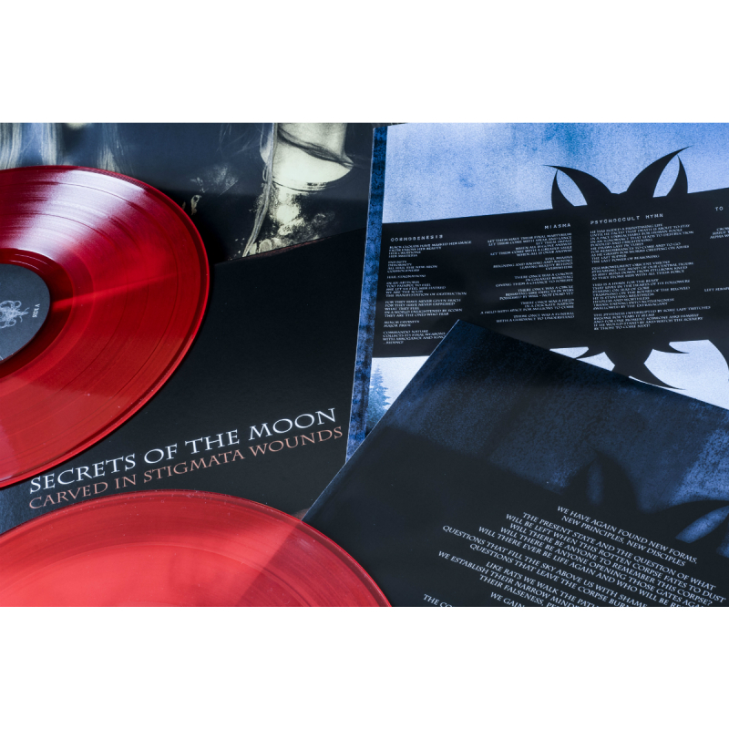 Secrets Of The Moon - Carved In Stigmata Wounds Vinyl 2-LP Gatefold  |  red
